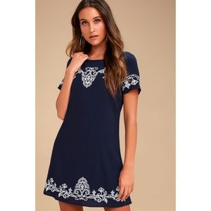 Tale to Tell Embroidered Shift Dress